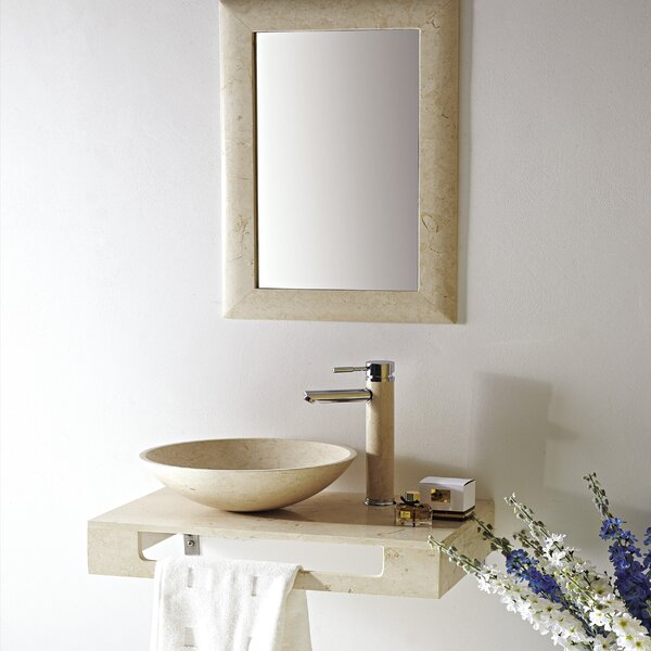 Grail Marble 10 Wall-Mount Bathroom Sink with Overflow by Eviva