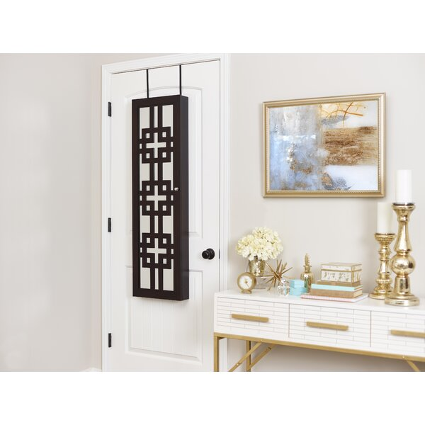 Degroot Modern Over The Door Jewelry Armoire with Mirror by Ebern Designs Ebern Designs