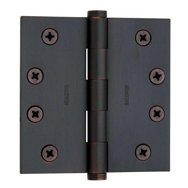 4 H x 4 W Butt Bearing Single Door Hinge by Baldwi