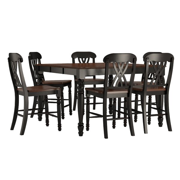 Heidi 7 Piece Counter Height Dining Set by Alcott Hill