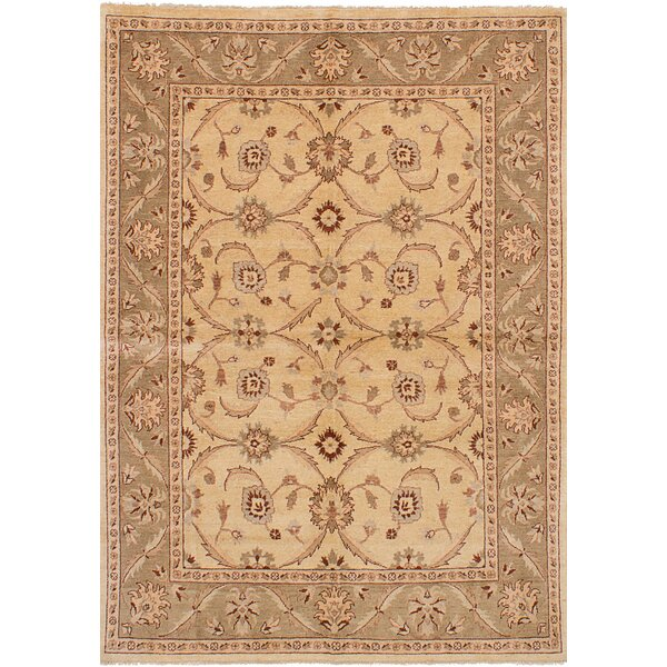 One-of-a-Kind Alasan Hand-Knotted Wool Ivory Area Rug by Isabelline