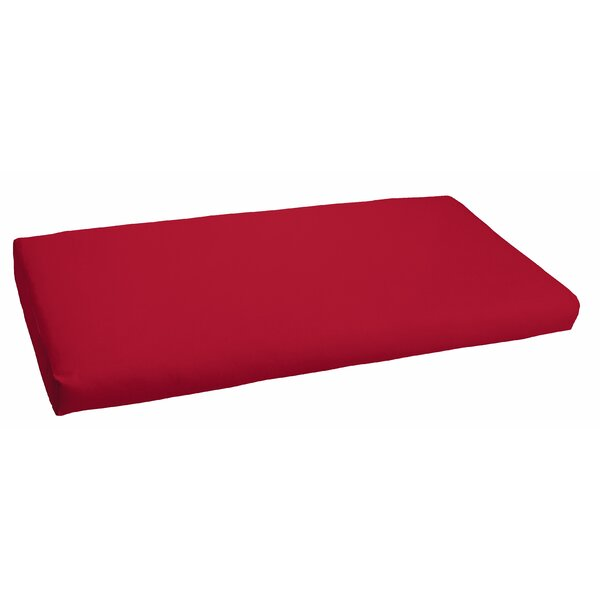 Crimson Indoor/Outdoor Bench Cushion by Red Barrel Studio