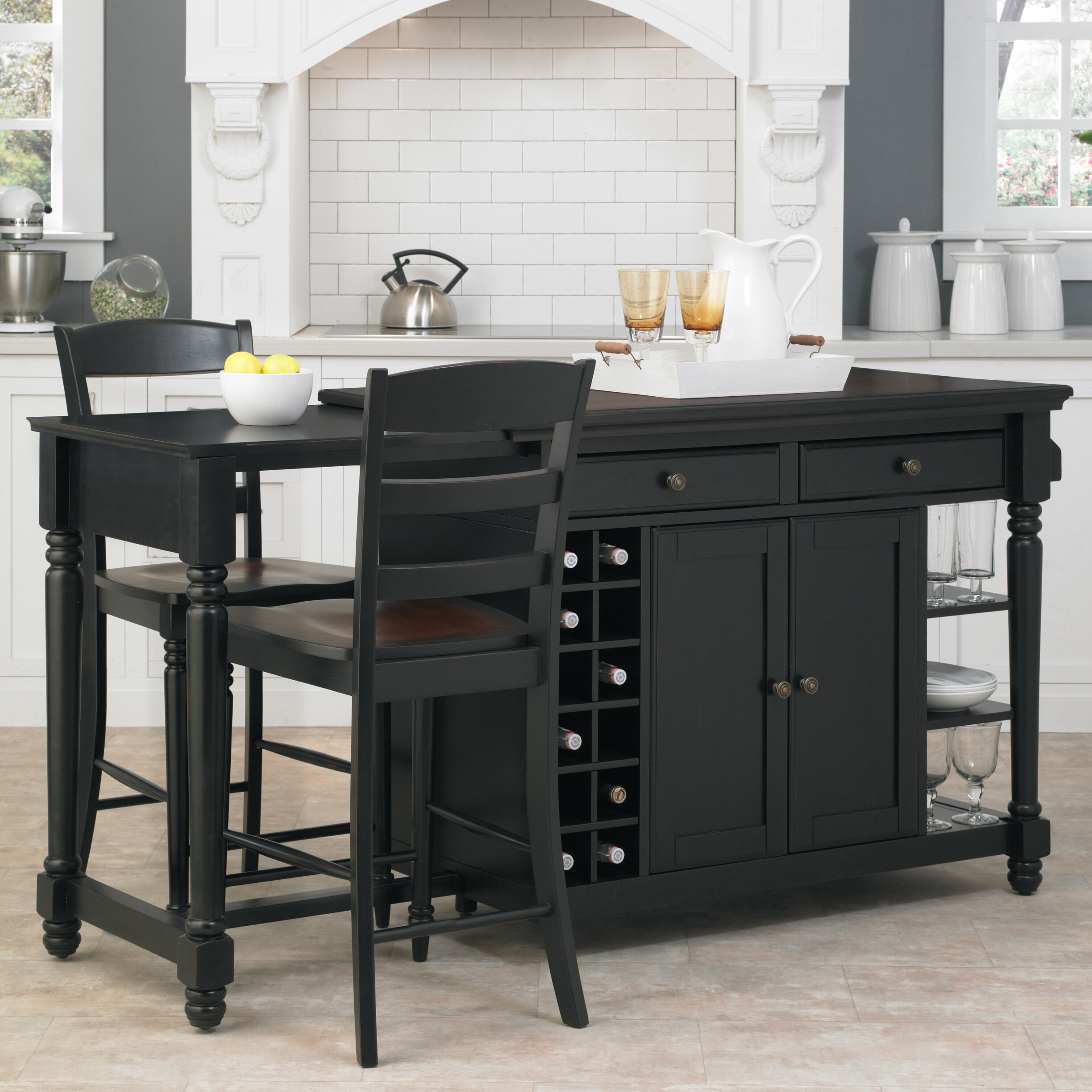 Darby Home Co Cleanhill 3 Piece Kitchen Island Set & Reviews