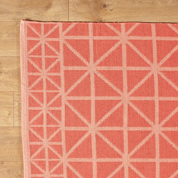 Tri Your Best Coral Reversible Rug by Birch Lane Kids™