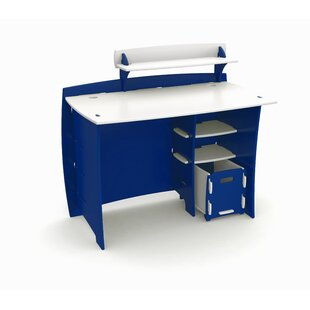 Affordable Price Race Writing Desk with Accessory Shelves and File Cart ByLegare Furniture