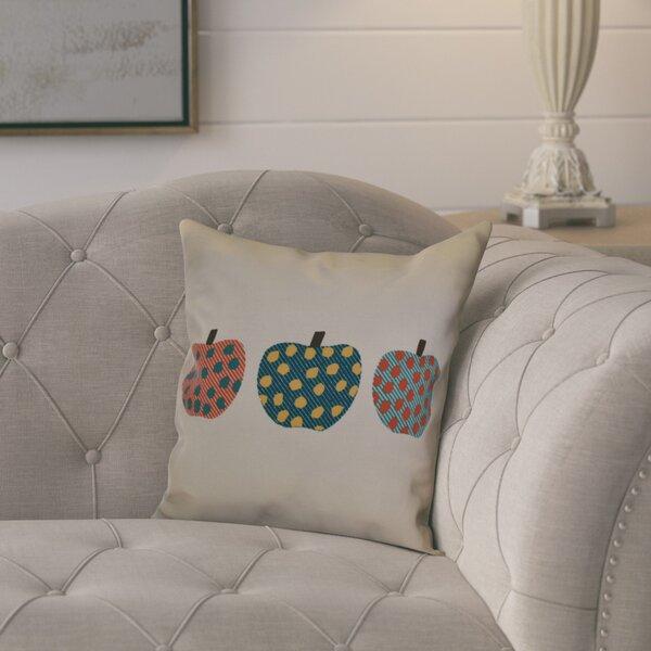 Ames 3 Little Pumpkins Geometric Throw Pillow by August Grove