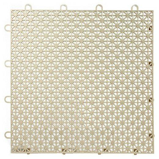Armadillo Floor 12.63 x 12.63 Tile in Buckskin Beige by Master Mark Plastics
