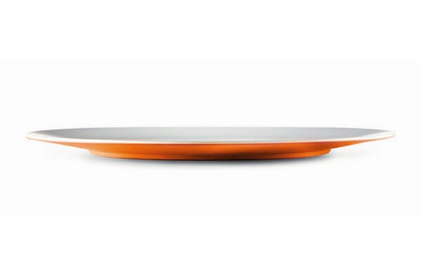 Small Entities 13.1 Melamine Oblong Oversized Dinner Plate (Set of 4) by MEBEl