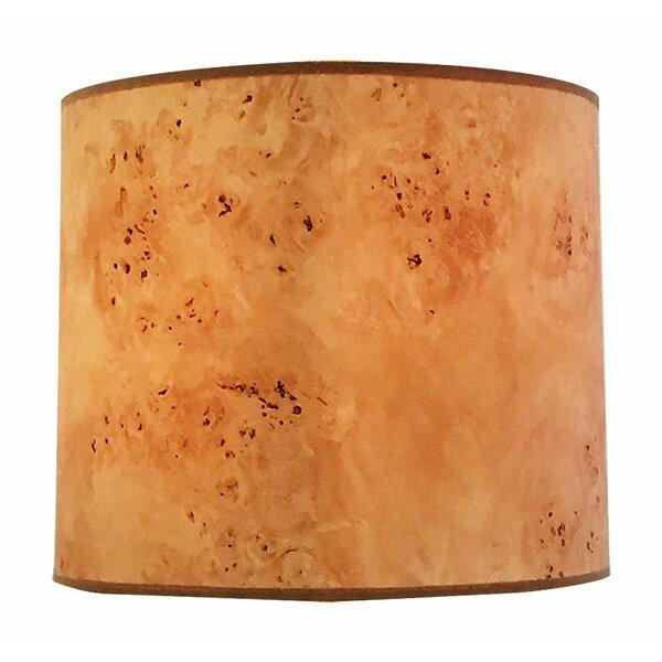 Wood Texture Hardback Paper Drum Lamp Shade by Winston Porter