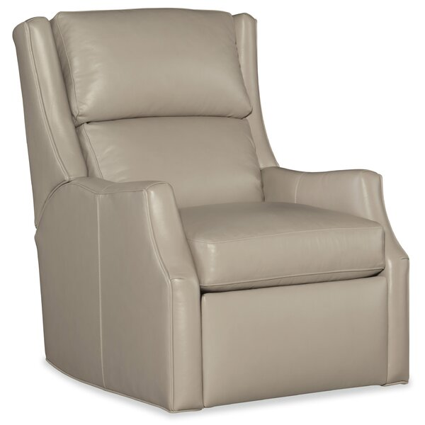 Thomas Leather Power Wall Hugger Recliner with Articulating Headrest by Bradington-Young