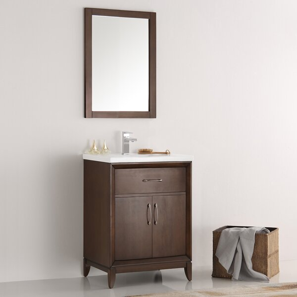 Cambridge 24 Single Bathroom Vanity Set with Mirror by FrescaCambridge 24 Single Bathroom Vanity Set with Mirror by Fresca