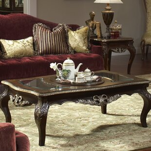 Imperial Court Coffee Table with Tray Top Michael Amini