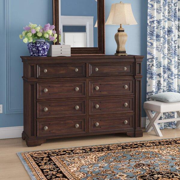 Sakamoto 8 Drawer Double Dresser by Fleur De Lis Living