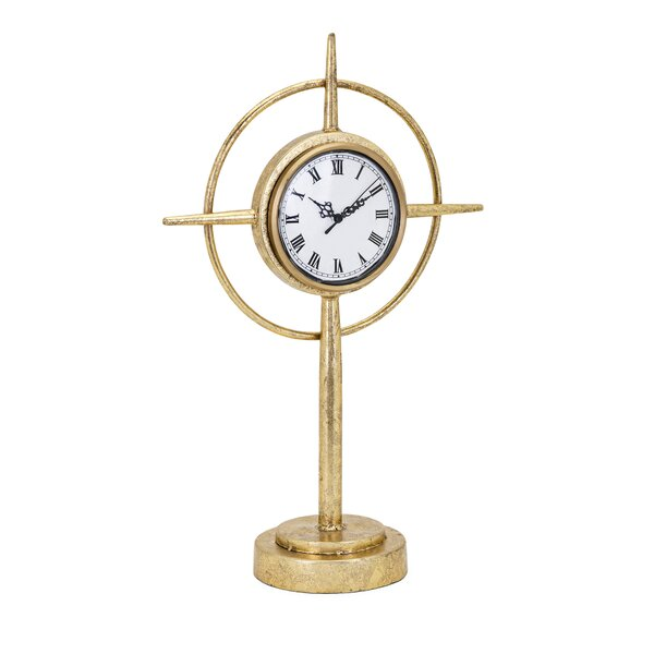 Compass Standing Tabletop Clock by Williston Forge