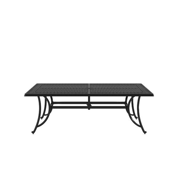 Yerkes Aluminum Dining Table by Alcott Hill