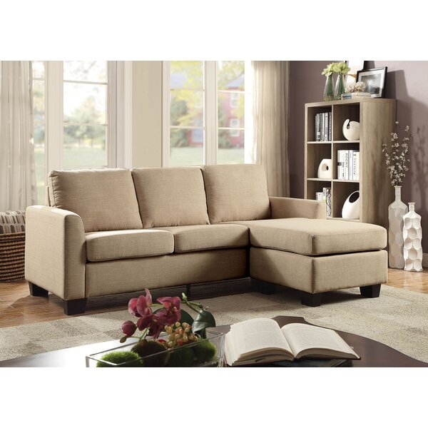 Get Great Deals Carleton Reversible Sectional with Ottoman Find the Best Savings on