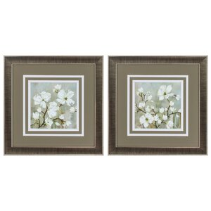 Sweetbay Magnolia 2 Piece Framed Painting Print Set by Propac Images