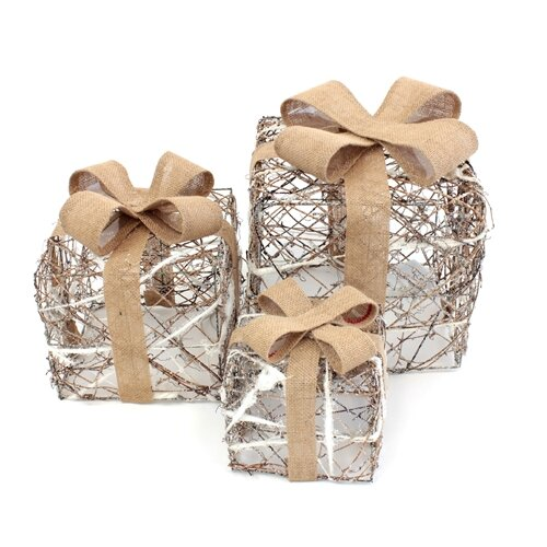3 Piece Decorative Presents Set by The Holiday Aisle