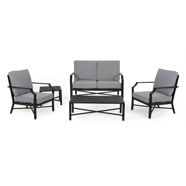 Revilla 5 Piece Multiple Chair Seating Group By Canora Grey