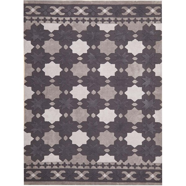 Melrose Hand-Tufted Dark Gray Area Rug by Harriet Bee