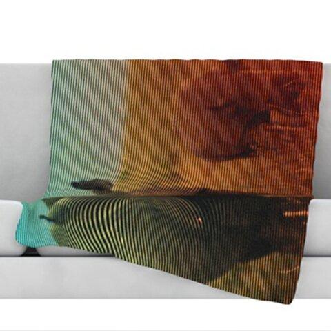 Abstract Rhino Throw Blanket by KESS InHouse