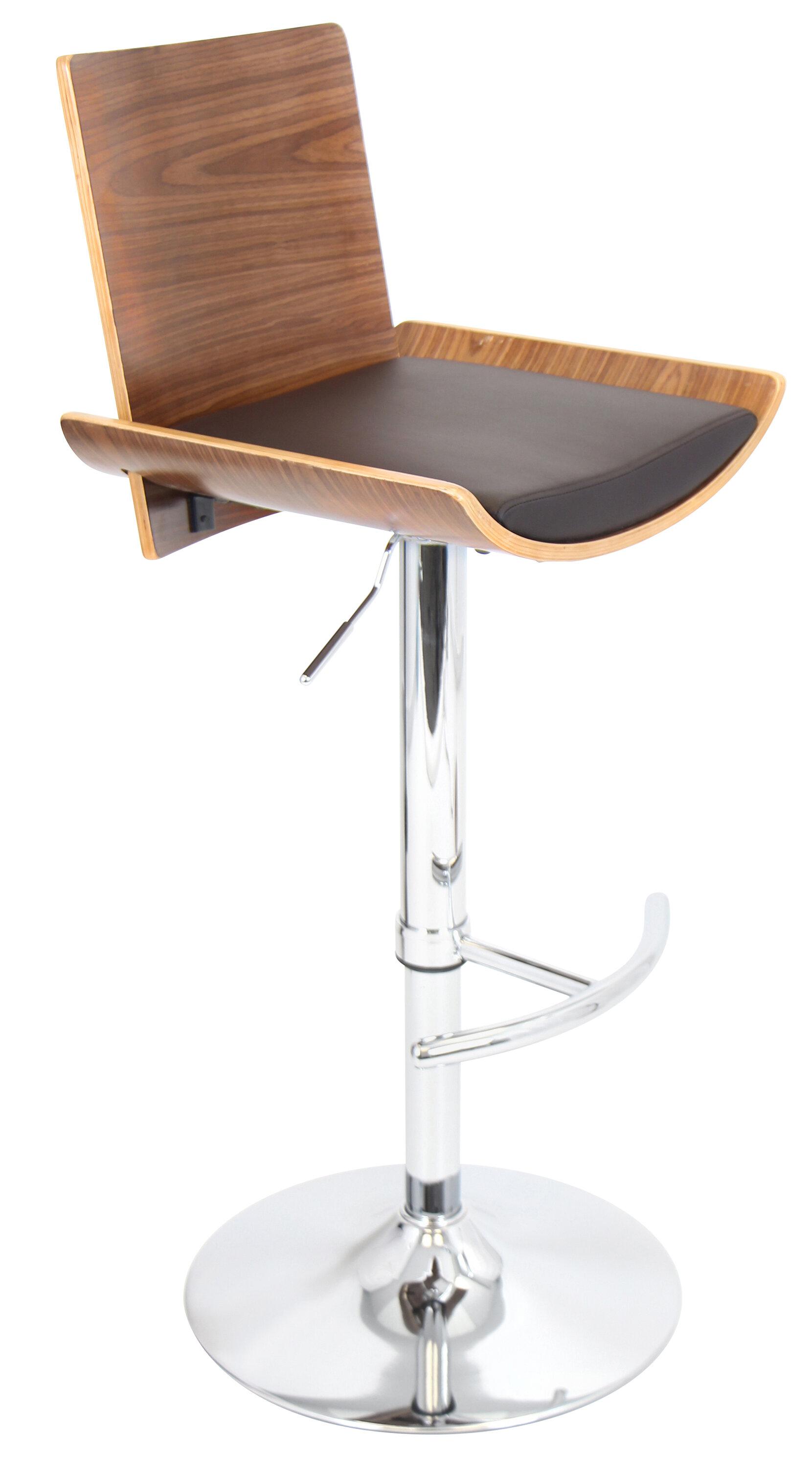 Outstanding Wade Logan Screven Adjustable Height Swivel Bar Stool Andrewgaddart Wooden Chair Designs For Living Room Andrewgaddartcom