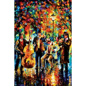 Glowing Music Painting Print on Wrapped Canvas by Andover Mills