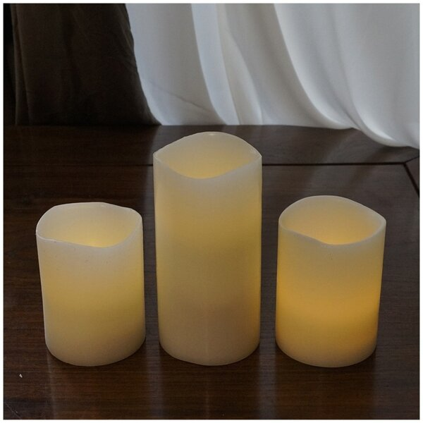 3 Piece Flameless Candle by Brite Star