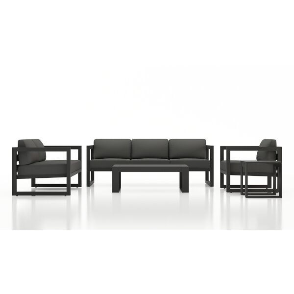 Remi 5 Piece Sofa Seating Group with Sunbrella Cushions by 17 Stories