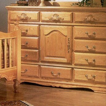 Country Heirloom 12 Drawer Oversized Combo Dresser by Bebe Furniture
