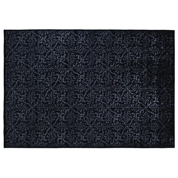 Super Tibetan Hand-Knotted Navy Area Rug by Exquisite Rugs