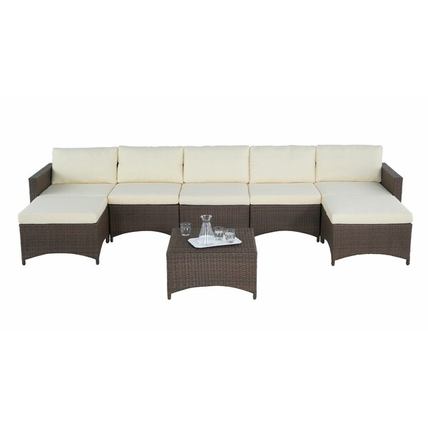 Narragansett 8 Piece Sectional Seating Group with Cushions by Ebern Designs