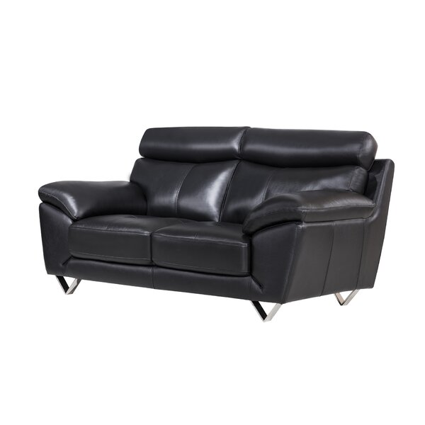 Cool Design Valencia Leather Loveseat By American Eagle Creativecarmelina Interior Chair Design Creativecarmelinacom