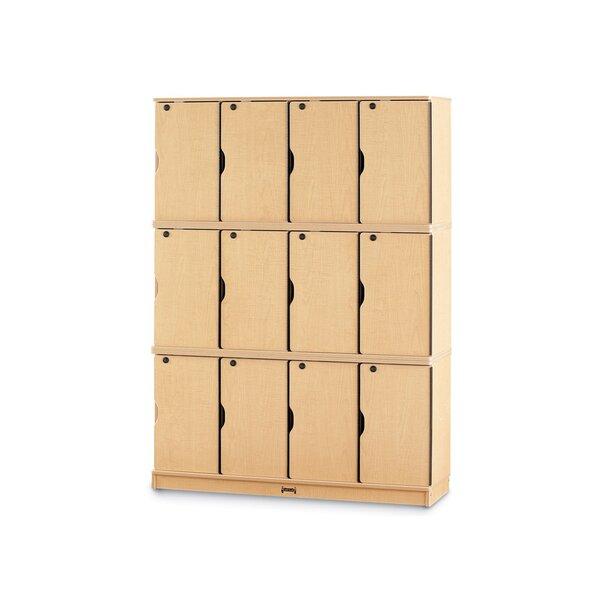 3 Tier 4 Wide Preschool Locker by Jonti-Craft