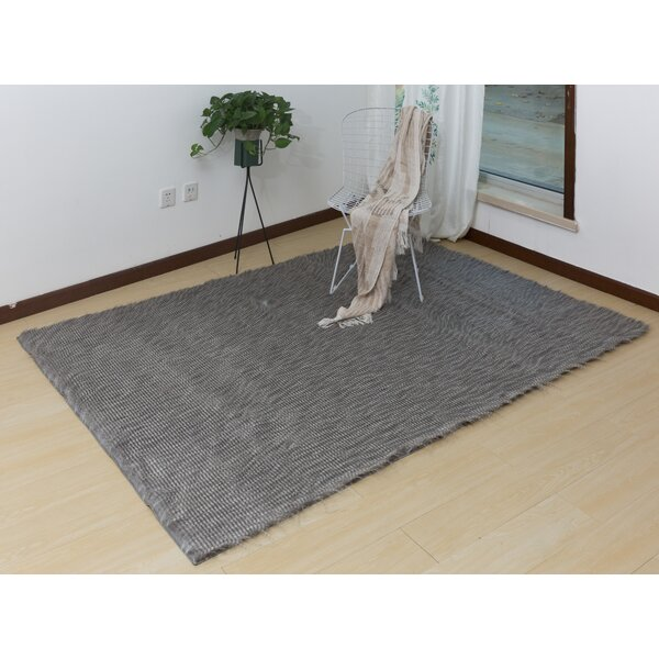 Lees Hand-Woven Gray Area Rug by Union Rustic