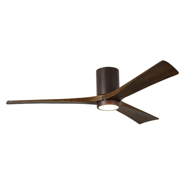 60 Rosalind 3 Blade Hugger Ceiling Fan with Wall Remote and Light Kit by Wade Logan