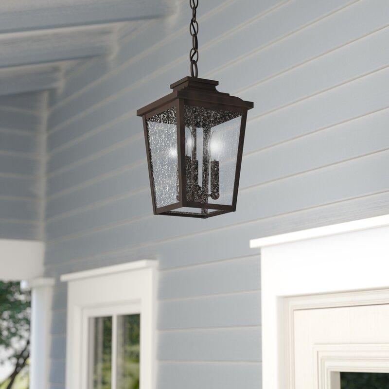 Hanging Outdoor Lights On Pergola: Three Posts Mayhugh 3-Light Outdoor Hanging Lantern