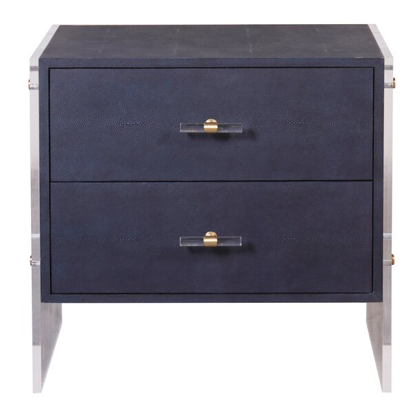 2 Drawer Nightstand by Worlds Away