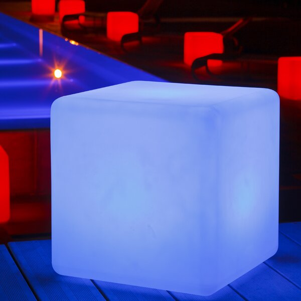 Cube Plastic/Resin Side Table by Smart & Green