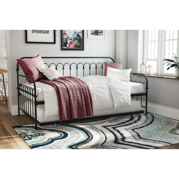 Bright Pop Metal Twin Daybed with Trundle by Novogratz