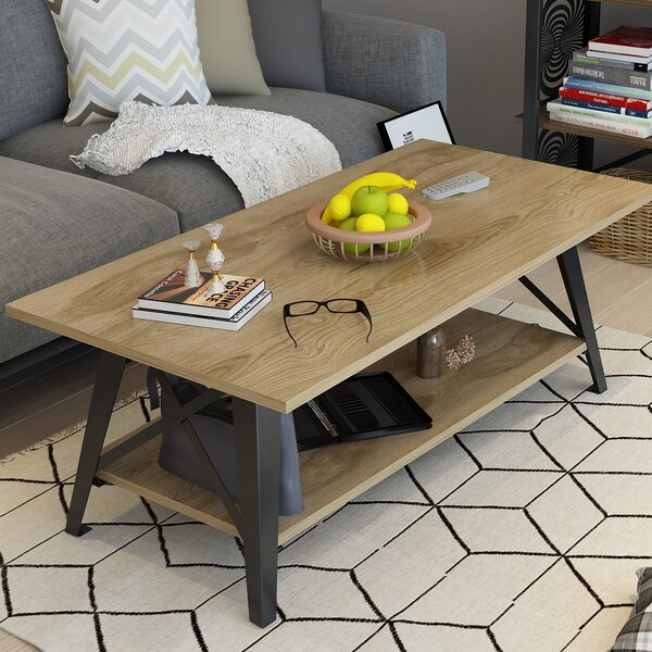 Kaliyah Coffee Table With Tray Top By 17 Stories