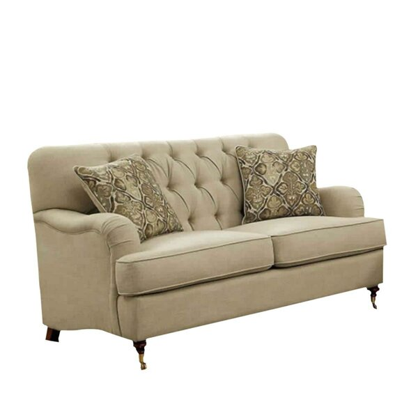 Lowest Price For Adairsville Transitional Tufted Loveseat by Three Posts by Three Posts