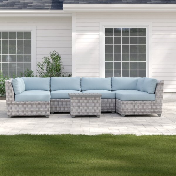 Brennon 7 Piece Sectional Seating Group with Cushions by Sol 72 Outdoor