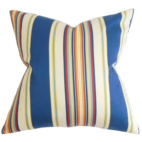 Douce Stripes Cotton Throw Pillow by The Pillow Collection