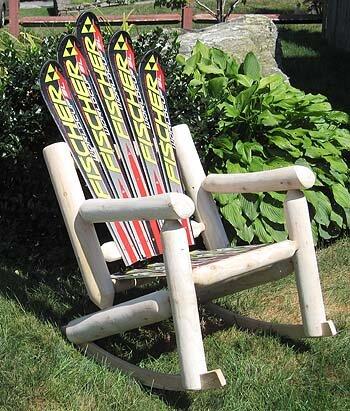 Snow Wood Rocking Adirondack Chair by Ski Chair Ski Chair