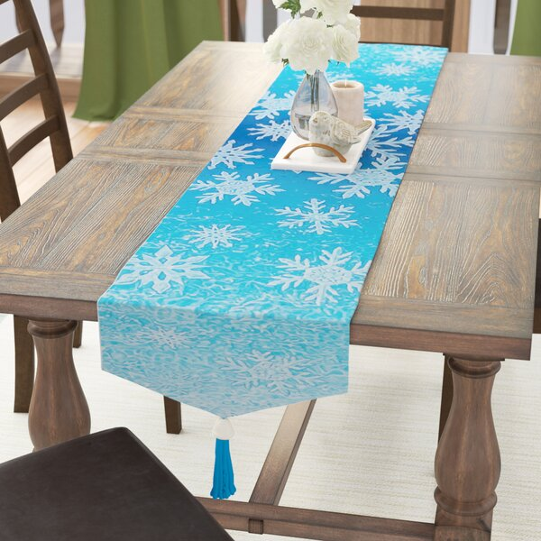 Printed Snowflakes Table Runner by The Holiday Aisle