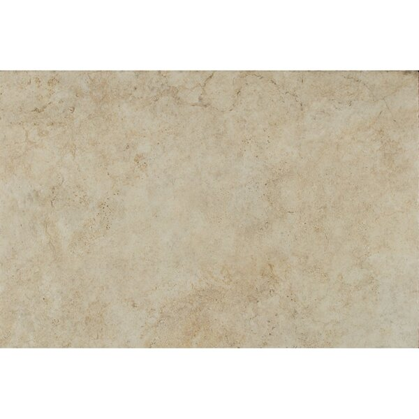 Forge Ink Jet Brushed Texture 13 x 20 Porcelain Tile in White by Bedrosians