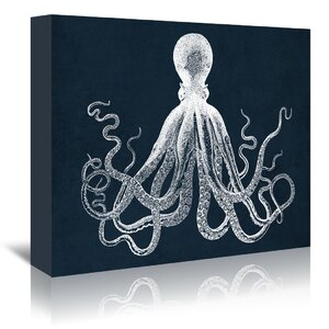 Octopus Graphic Art on Wrapped Canvas by Breakwater Bay