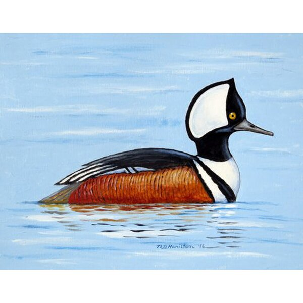 Hooded Merganser Placemat (Set of 4) by Betsy Drake Interiors