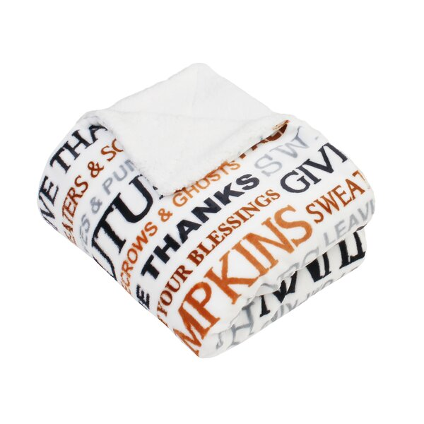 Dent Autumn Words Print Throw by The Holiday Aisle